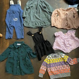 Zara babygirl dress sweater jumper bundle set
